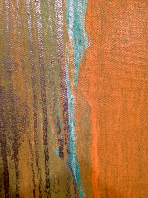Pat Steir, detail oil on canvas