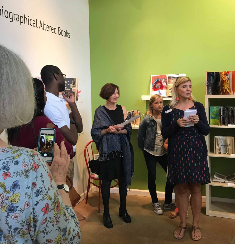The award ceremony at the opening if the Autobiographical Altered Book Exhibition. Photo: Natalie Velez