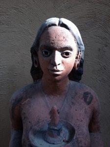 Sculpture outside Sanskriti Kendra