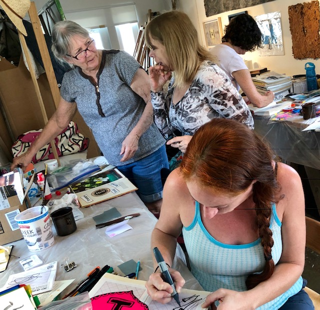 Alter book workshop at Rose Marie Prins' Fall Day-Long Altered Book Workshop