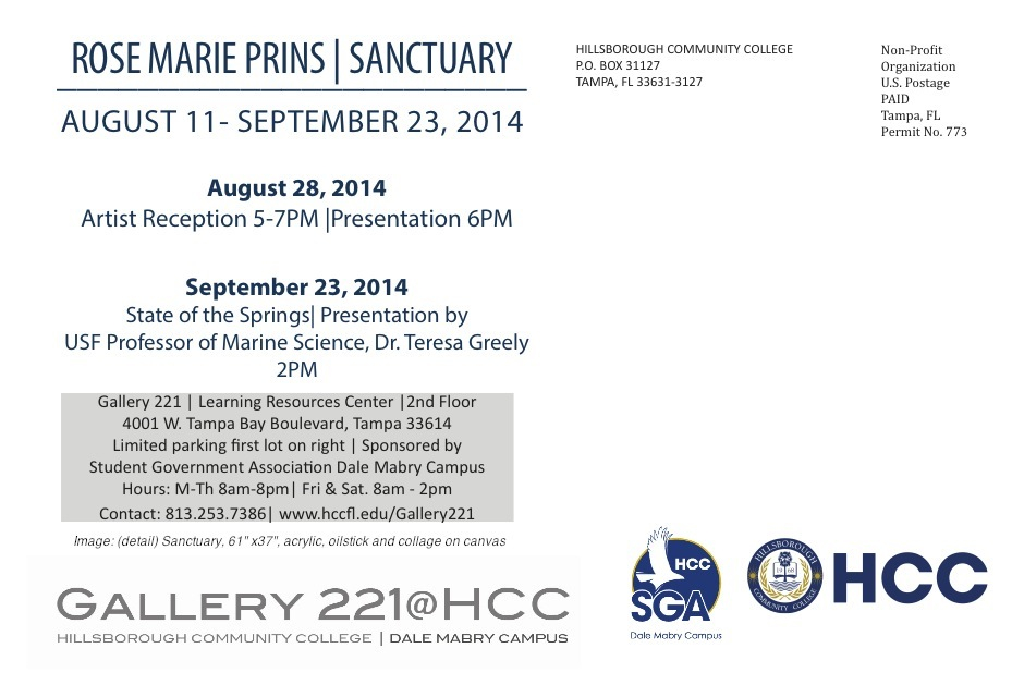 Sanctuary Solo Exhibition At Gallery At 221 Hcc Dale Mabry Campus